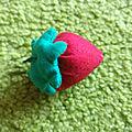 Dînette en tissu : les fraises