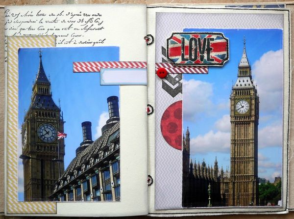 mini album Londres pages 8 et 9