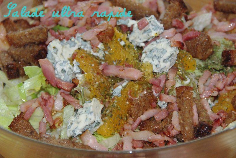 Salade tr s fra che et super rapide les gourmandises de for Entree fraiche et rapide