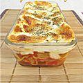 Lasagnes aux aubergines et à la mozzarella
