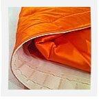 Rideaux en soie orange