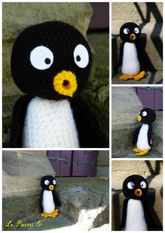 Peluche Pingouin au crochet