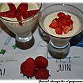 Verrine de tapioca aux fraises