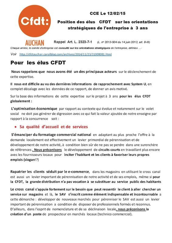 avis CFDT orientations stratégiques fin