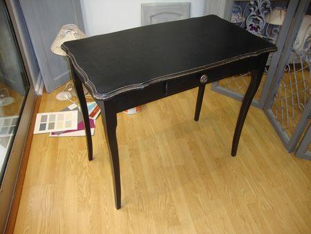 table coiffeuse patine noire et or kr ative d co. Black Bedroom Furniture Sets. Home Design Ideas