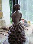 Anabella,sculpture,modelage,céramique,terre,argile,raku,silhouette,espagnle,femme,statuette,statue,grès (9)