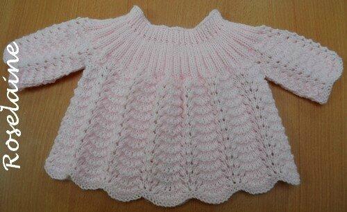 Roselaine tricot brassière point vagues 3
