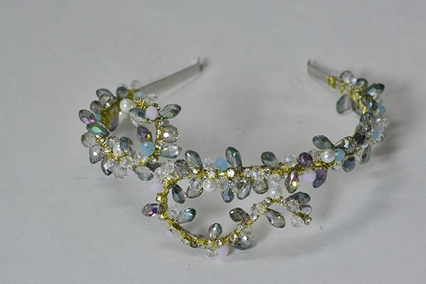 How to Make Handmade Bling Glass Beaded Headbands for Wedding600400