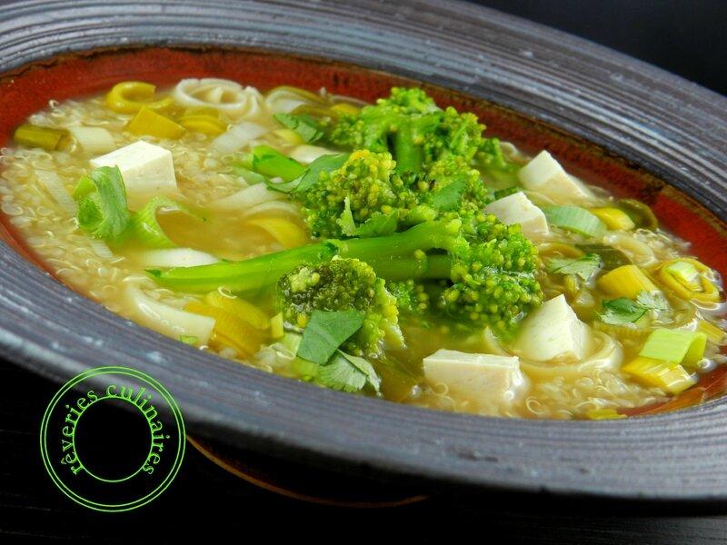 soupe de quinoa aux légumes