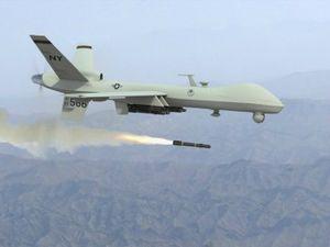 Drone predator-firing-missile