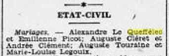 Ouest Eclair mariage Cherbourg 1929_3