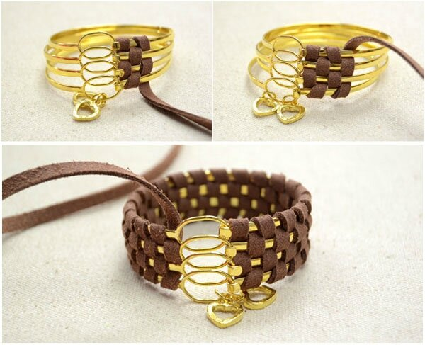 Cool-Ways-to-Make-Stacked-4-in-1-Wide-Metal-Cuff-Bracelets-with-Suede-Cord-step2-4