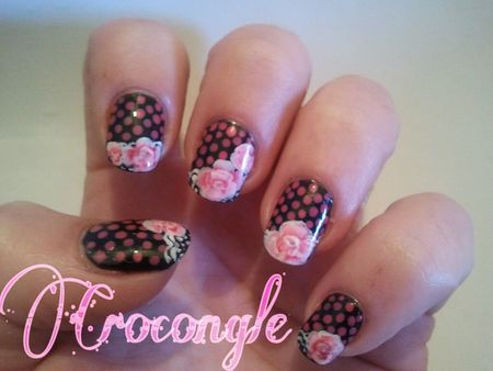 Nail art rose 31 Day Challenge Crocongle1