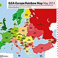 Découvrez l'édition 2013 de l'ilga-europe rainbow map
