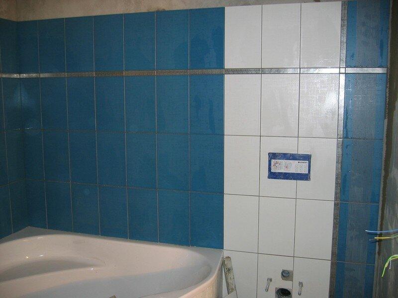 Carrelage des salles de bain mes p 39 tites fimoteries - Carrelage bleu turquoise salle de bain ...