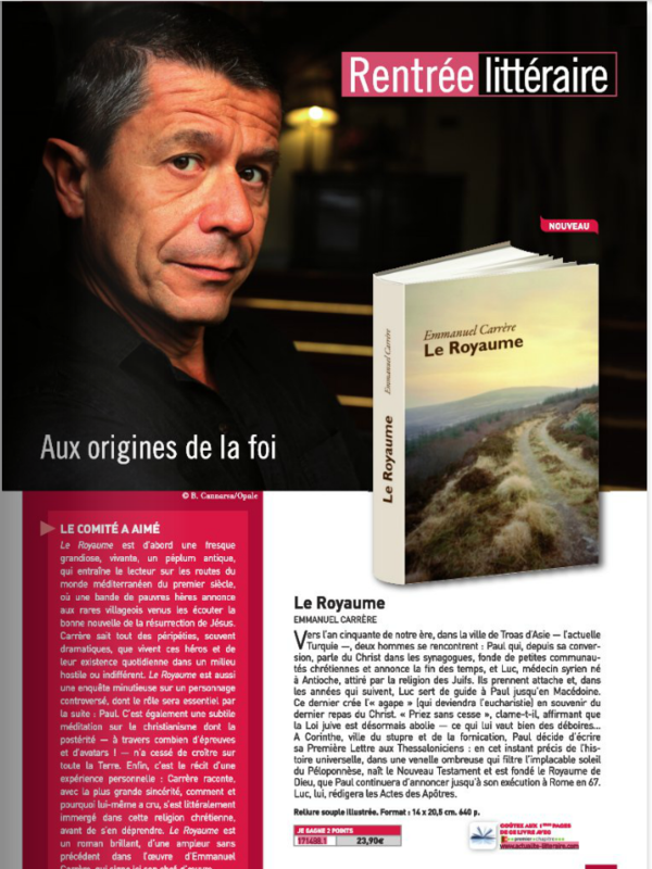 RENTREE LITTERAIRE -OCTOBRE 2014 - SUITE 1