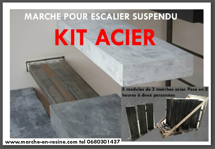 marche en resine pour escalier exterieur escalier suspendu en kit floating stairs floating. Black Bedroom Furniture Sets. Home Design Ideas