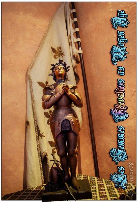 Jeanne d'arc Femmes-chevaliers au Moyen Âge Chevalerie collection château du Rivau Pays de la Loire