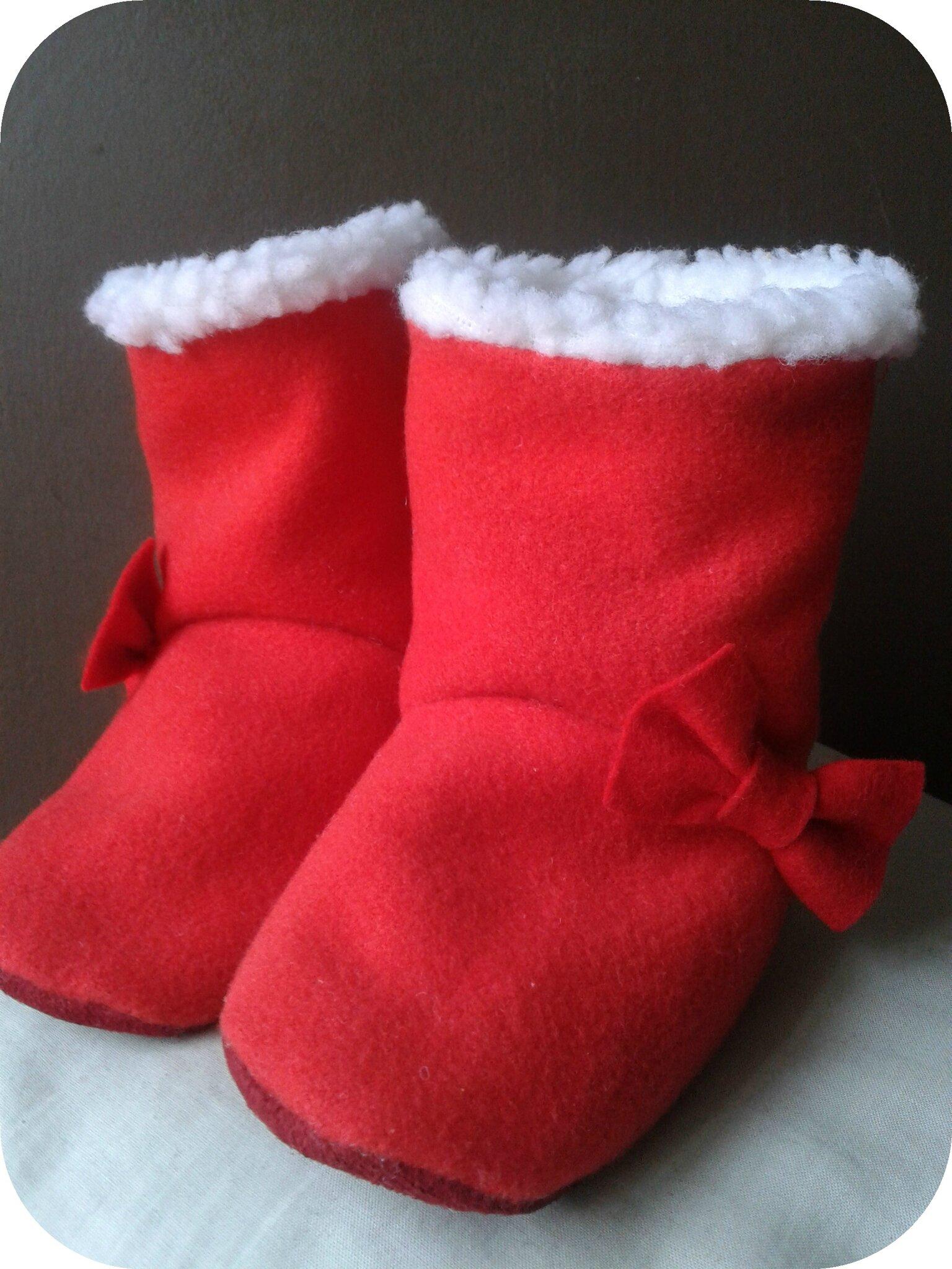 Zazou's Christmassy boots