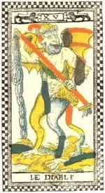 Tarot Parisien 1600-1650 carte du Diable