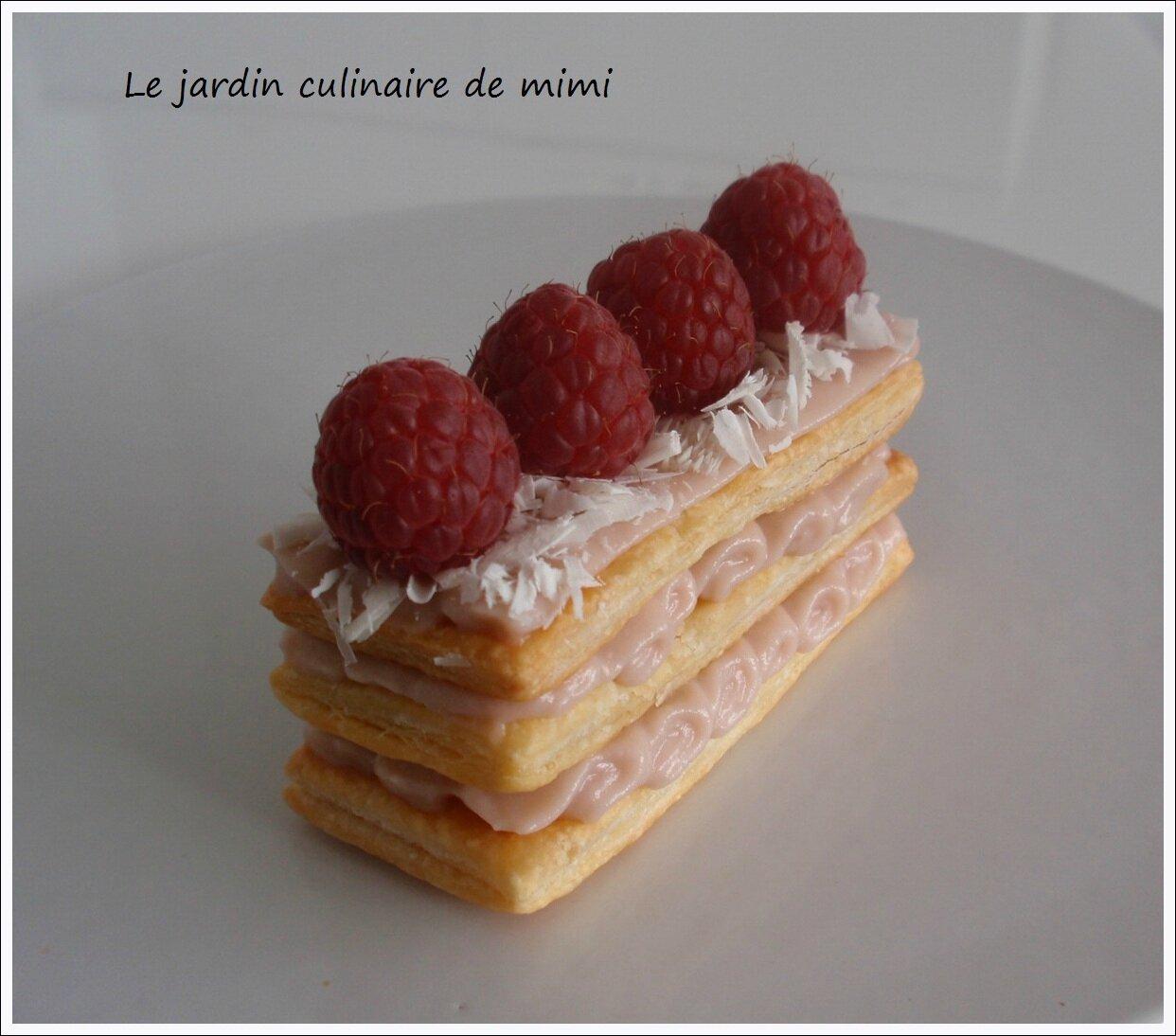 Petits mille feuilles aux framboises by mimi le jardin for Dessert facile et rapide et original