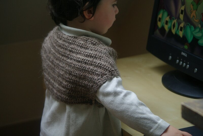 crocheter un chale / chauffe coeur