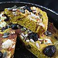 Scone géant au potimarron, olives et féta