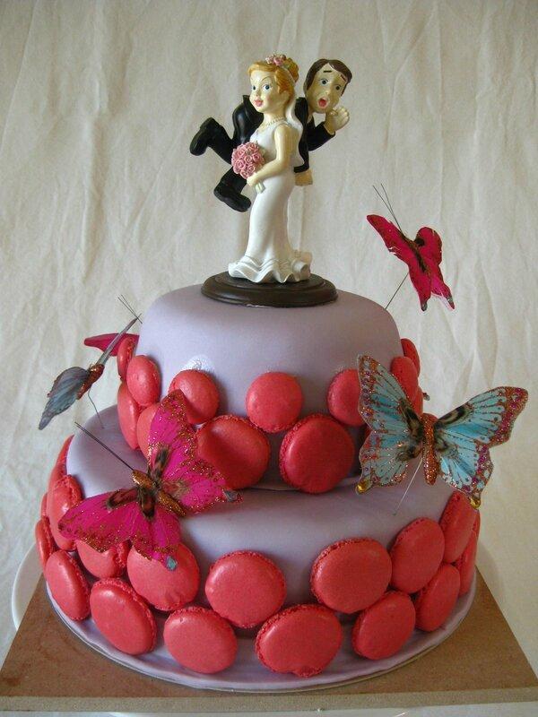 gâteau mariage mauve et fushia (22)