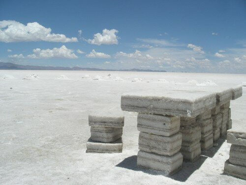 Salar Uyuni, Table de sel