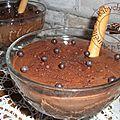 Mousse croustillante pour les amateurs de chocolat