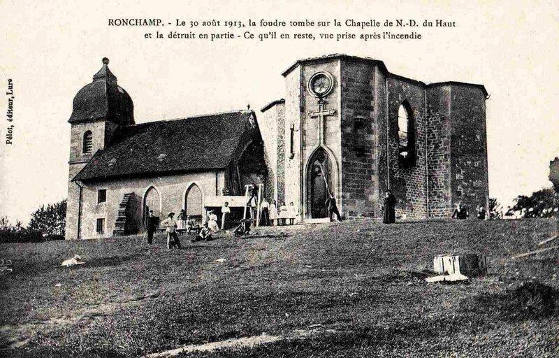 CPA Ronchamp Notre-Dame du Haut 1913 Après le 31 août
