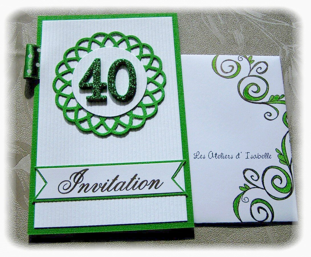 cartes d 39 invitations 40 ans de mariage ma p 39 tite fabrique. Black Bedroom Furniture Sets. Home Design Ideas