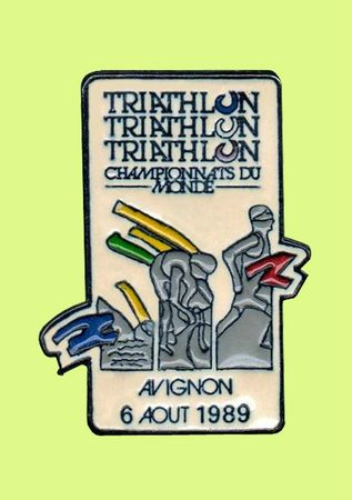 Triathlon Pin's Avignon 1989
