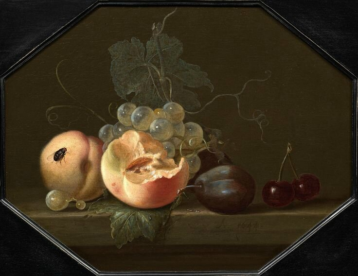Willem van Aelst (Delft 1626 - Amsterdam 1683), Still-Life with Peaches and Plums