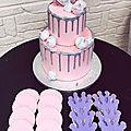 Voici un double layer cake et sablés