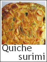 quiche sans pâte au surimi index