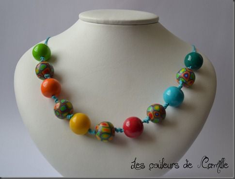 111 collier multicolore