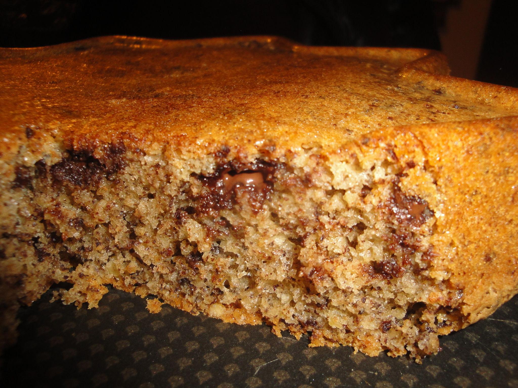 Cake noisette et chocolat