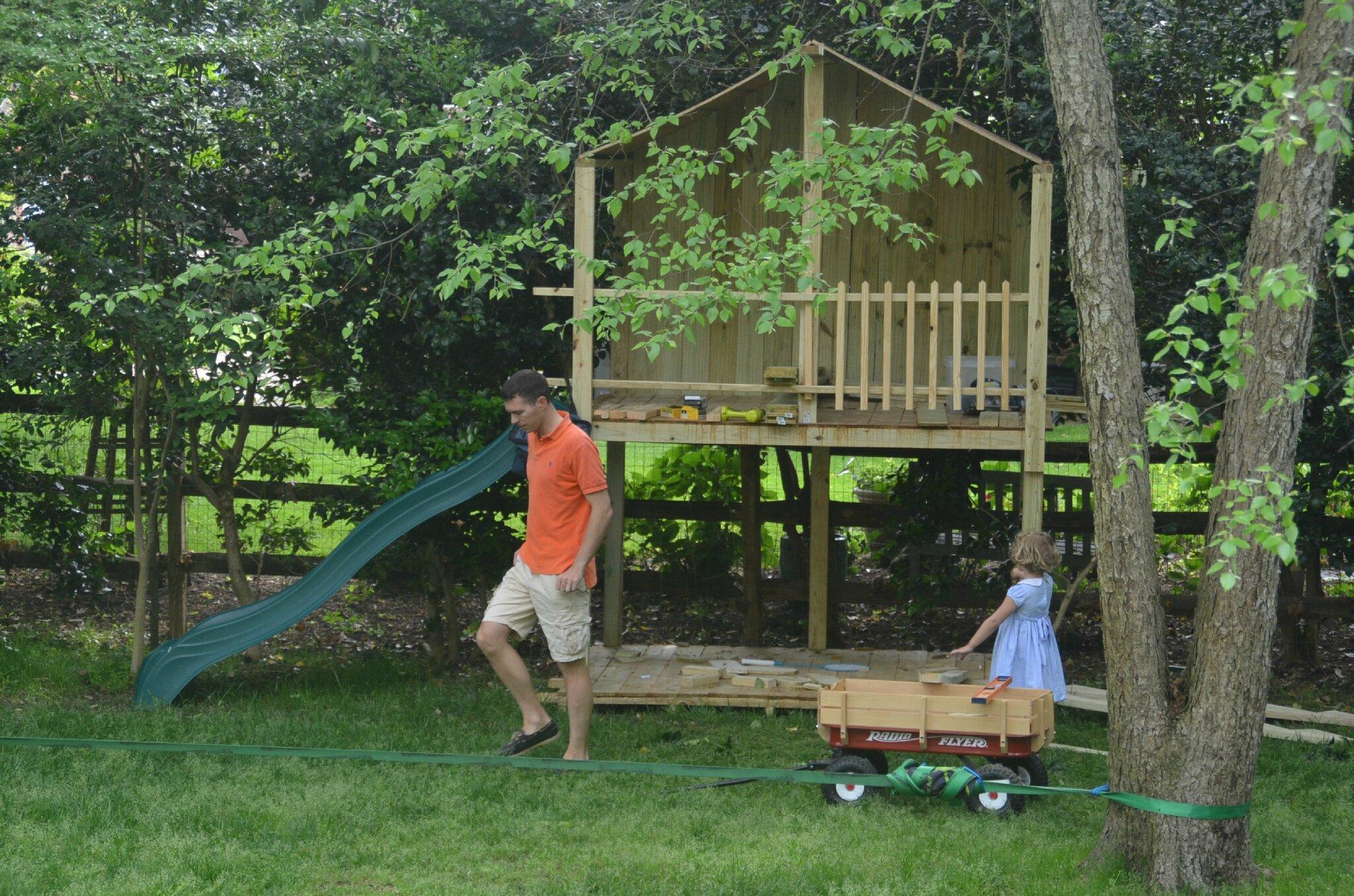 La cabane au fond du jardin Virginia Beach en famille