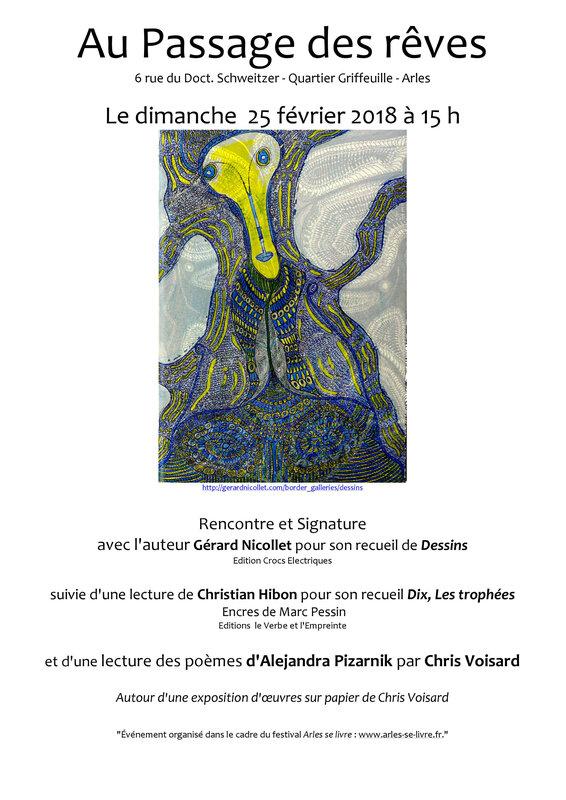 Arles se livre le dimanche 25 fev à 15 h Gérard Nicollet -
