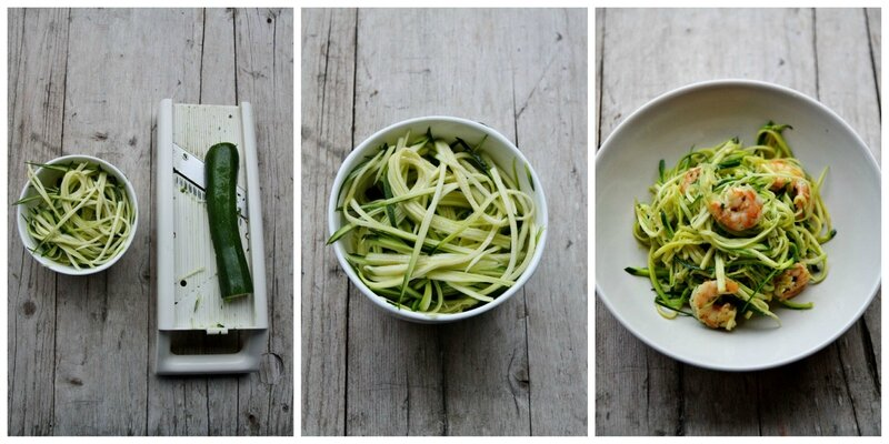 Zucchini noodles Collage