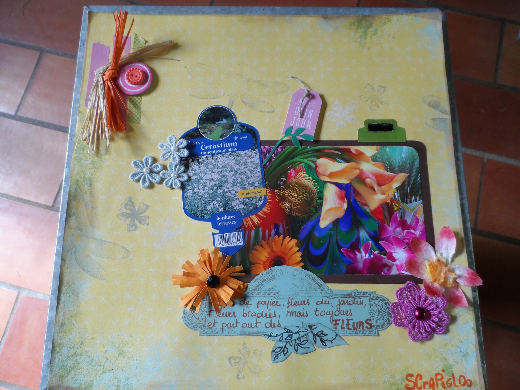 Brassée de fleurs pour Infocréa