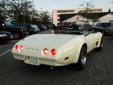 chevrolet corvette stingray convertible 1974 1975 rencard burger king offenbourg 2