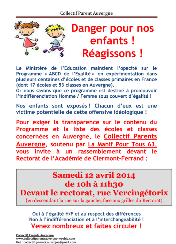 tract Manif à Clermont le 12 avril