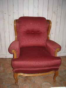 Repeindre le tissu d 39 un fauteuil avant apres bricole et for Quel tissu pour recouvrir un canape