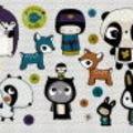 Stickers chambres enfants -les tanukis-Poisson-Bulle- Annelore P