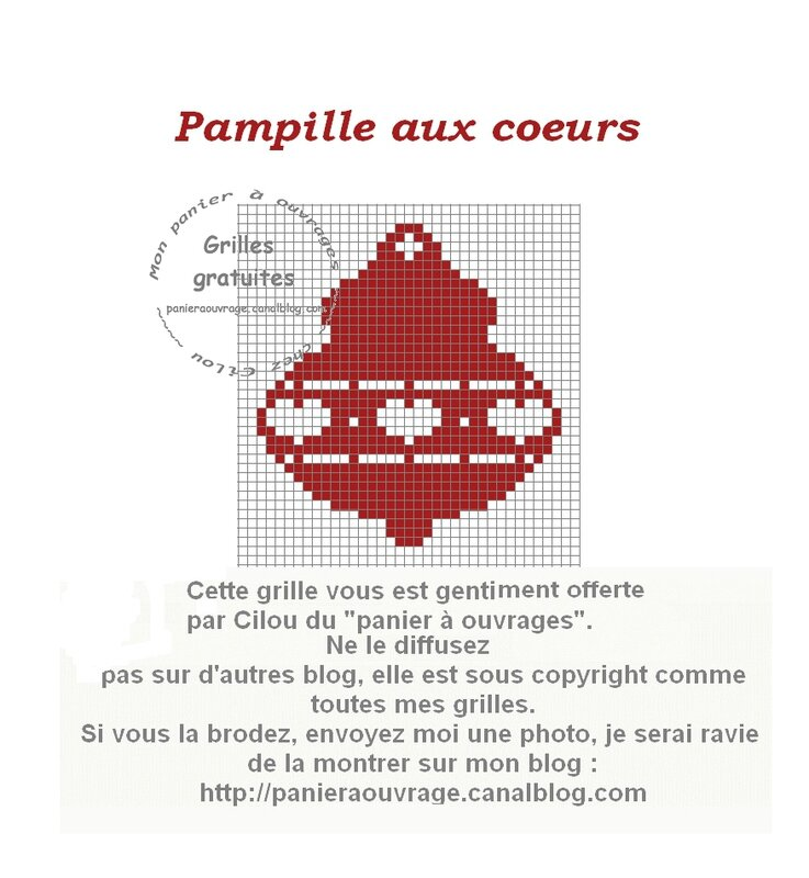 pampille aux coeurs rouge