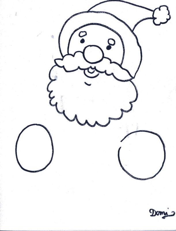 Comment dessiner un pere no l domi dessins et peintures - Comment dessiner pere noel ...