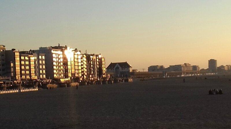coucher de soleil à Ostende