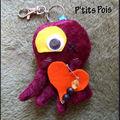 Porte-clé poulpe amoureux